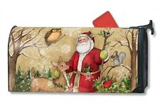 Charming WOODLAND SANTA mailbox cover - attaches with magnets - MADE IN USA