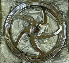 """ONE-PIECE CHROME FRONT FORGED ALUMINUM FXD/R 84-99 19""""x2.15  5 SPOKE WHEEL"""