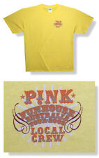 "PINK P!NK FUNHOUSE 2009 AUSTRALIA TOUR ""LOCAL CREW"" YELLOW T-SHIRT LARGE NEW"