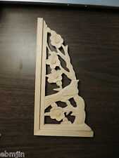 .Carved Wood Panel w/ Bird and  Plum Flower