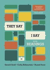 FAST DELIVERY - They Say / I Say, 3rd ed. by Gerald Graff