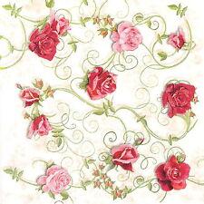 Papel De Fiesta de mesa única de 4 Servilletas Para Decoupage Decopatch Artesanía Adornos De Rosas