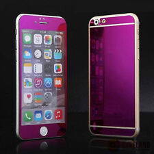 Front&Back Tempered Mirror Effect Glass Screen Protector Cover For iphone5 6 6S