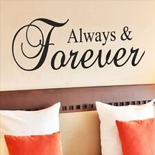 Huhome PVC Wall Stickers Wallpaper English Forever romantic couple bedroom home