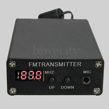 87~109MHz Stereo Digital FM Broadcast Transmitter Radio Station + Adapter + Wire