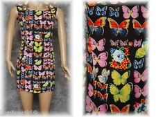 BUTTERFLY & FLOWERS Sleeveless SUMMER Mini DRESS Sz: 1 (XS) Casual Career FRANCE