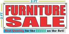 Red FURNITURE SALE 2X5 Banner Sign NEW Size Best Quality for The $$$