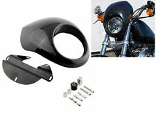 Black Headlight Fairing Mask Headlamp Visor For Harley Sportster Dyna FX XL