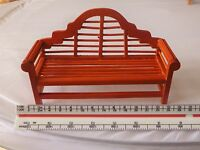 1:12 Scale Wooden Bench Dolls House Miniature Garden Furniture Accessory