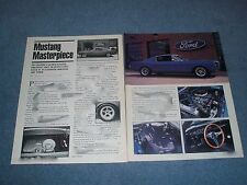 """1965 Mustang Fastback Resto-Mod Article """"Mustang Masterpiece"""""""