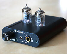 Little bear P2-1 BLACK HiFi valve tube headphone amplifier amp preamp uk