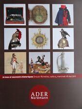 Catalogue de vente MILITARIA Armes anciennes Souvenirs historiques Figurines