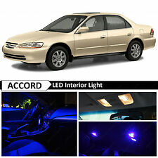 12x Blue Interior LED Lights Package for 1998-2002 Honda Accord Sedan 4 Door