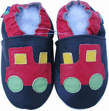 shoeszoo tractor black 0-6m S new soft sole leather baby shoes