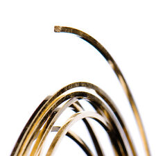 GOLD FILLED SQUARE WIRE 14 Gauge, Morbido (1 piede lunghezza)