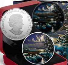 2017 Moonlight Glow-in-Dark 2OZ PureSilver $30Canada Cougar Coin MintSoldOut4000