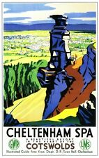 Cheltenham Spa 2 Railway Retro Vintage Old Picture Old School Poster A4 Print