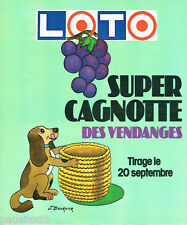 PUBLICITE ADVERTISING 036  1978  Loto  super cagnotte vendanges par J.Bourdier