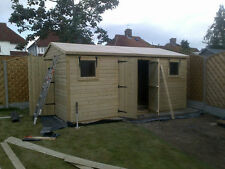 20x10 Tanalised Ultimate Apex Garden Shed/Office/Garage 19mm T&G