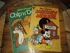 MICKEY MOUSE CHIP'N'DALE 2 ALBI IN LINGUA ORIGINALE ANNO 1960 E 1986