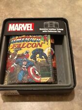 New Marvel the Falcon Comics Genuine Leather Collector Wallet NIB