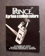 [GCG] I747 - Advertising Pubblicità -1979- PRINCE SOLAR ACCENDINO CELLULA SOLARE