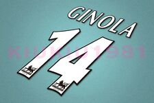 Tottenham Hotspur Ginola #14 PREMIER LEAGUE 97-06 White Name/Number Set