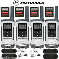 Motorola Talkabout T260 Walkie Talkie 4 Pack Set Two Way Radio NOAA White 25 Mil