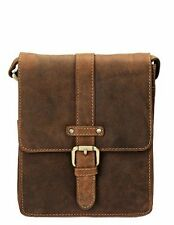 Visconti 16113 Small Oil Tan Leather Messenger Bag Cross-body Bag Shoulder Purse