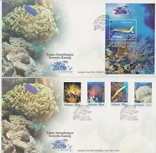 (FDC97027) MALAYSIA 1997 Year of the Reef Stamps M/S First Day Covers FDC