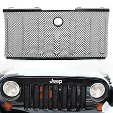Stainless Front Hood Grille Bug Screen 3D Mesh Grill Insert for Jeep Wrangler JK