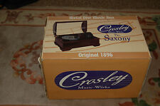 "Crosley The ""Saxony"" Metal Disc Music Box New In Box"