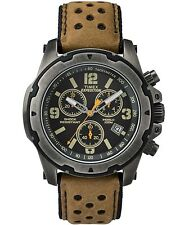 "Timex TW4B01500, Men's ""Expedition"" Brown Leather Watch, Chronograph,TW4B015009J"