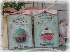 """A set of Two """"Chocolate...""""~Shabby Chic~Country Cottage style~Wall Decor Sign"""