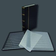 Briefmarkenalbum, Einsteckbuch Leuchtturm BASIC, 60 Seiten schwarz in SCHWARZ