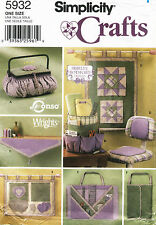 Simplicity Quilting Accessories Sewing Pattern 5932