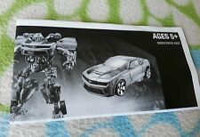 TRANSFORMERS DARK MOON DELUXE BUMBLEBEE INSTRUCTION BOOKLET TARGET