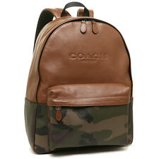 Coach Charles Print Coated Canvas Green Camouflage Backpack F72344