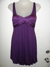 bebe S Dress Purple Cordial Silk Bubble Spring Summer Beach Weding Party Sexy