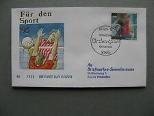GERMANY BRD, cover FDC 1995, sport volleyball