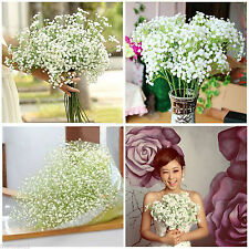 1 Home Decor Artificial Gypsophila Floral Flower Fake Silk Wedding Party Bouquet