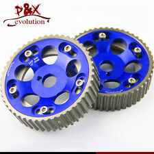 2pcs Adjustable Cam Gears Pulley Timing Gear for Toyota Supra 1JZ 2JZ Blue