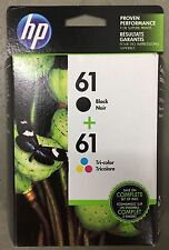ORIGINAL HP 61 Black & Color Printer Ink Cartridge Combo Pack EXP: MAY/2018