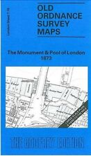 MAP OF MONUMENT & POOL OF LONDON 1873