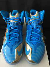 Nike LEBRON 11 ELITE COLLECTION BLUE HERO ZINC GOLD 682892-404 sz 10.5