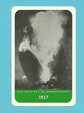 Hindenburg Zeppelin Hot Air Balloon Airship Cool Collector Card from Europe
