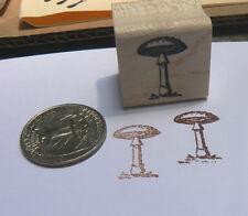 """P24 mushroom rubber stamp miniature WM 0.4x0.7"""""""