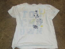 Toddler Boys Okie Dokie short sleeved white touchdown t-shirt size 4T