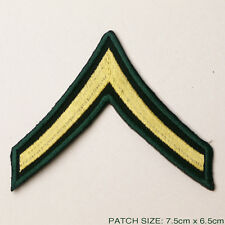 US ARMY 'PRIVATE' Stripes Rank Patch, Iron-On