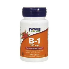 Vitamin B-1, THIAMINE, 100mg x 100Tabs, NOW Foods, Neuropathy, Energy